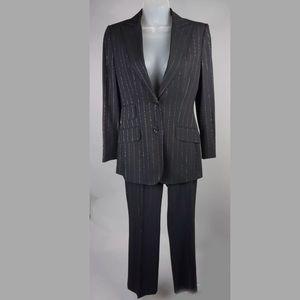 Dolce & Gabbana Pin Black Stripped Pant Suit